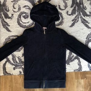 Juicy Couture Velour Jacket in Navy Blue